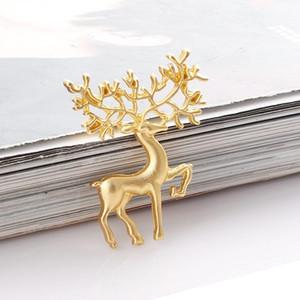 Ciervos de Navidad Broches Vintage Color De Color Del Vintage Sika Deer Broche Pines Lindo Hermoso Animal Pin Invierno Fiesta De Joyería De Boda Accesorios