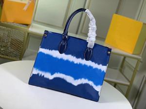 2021 새로운 여성 넥타이 염료 핸드백 지갑 클러치 토트 크로스 바디 정품 가죽 저녁 가방 쇼핑 숄더 백