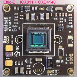"""Effio-E chipset 1/3"""" Sony Super HAD CCD II ICX811 + CXD4140 CCTV módulo de placa de la cámara de PCB (piezas opcionales)"""