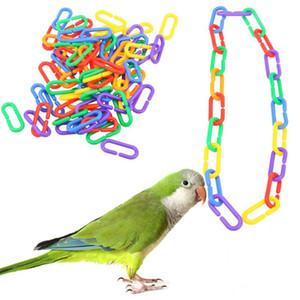 Enlace de cadena de plástico Pájaro de pájaro Loro Pájaros Tipo C Gnaw TocaThing Un paquete de 100 PCS NUEVA LLEGADA MULTICOLOR NUEVA LLEGADA 6 5JX J2