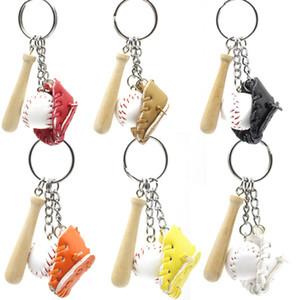 Woodiness Baseball Key Fibbia Uomo Donne Leghe Hang Borsa Plated Silver Keys Catena multicolor Tre pezzi Set 32 XY J2B