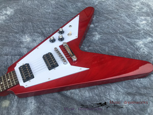 China electric guitar OEM shop electric guitar G fly guitar RED color can be customized