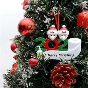 2020 new Christmas Birthdays Party Decoration Gift Product Personalized Family Of 2 3 4 5 Ornament Pandemic Social Distancing