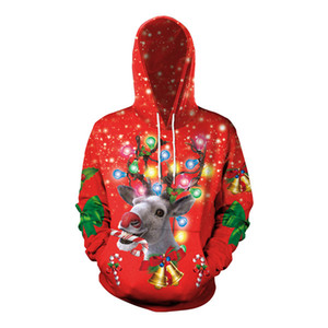 Christmas Clothing Homme Hooded Sweatshirts Mens Women Designer Hoodies High Street Print Hoodies Pullover Winter Sweatshirts uniform