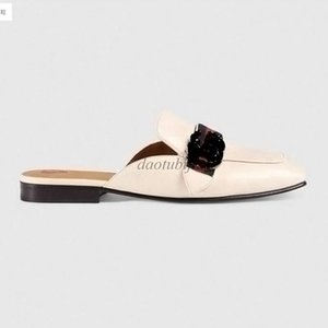 Mules Princetown Men Women Fur Slippers Mules Flats Genuine Leather Designer Fashion Metal Chain Ladies Casual shoes US 5-12 I2