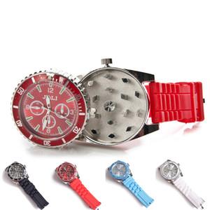 Grinder 42MM Watch design Grinder Zinc Alloy Metal 4 Colors Spice Pollen Creative Hand Muller Crusher herb grinder