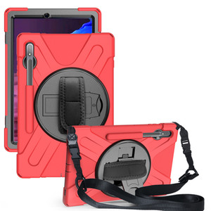 Hybrid Silicone Hard Stand Holder Shoulder strap for samsung galaxy S6 Tab A7 S7 plus 12.4 A S6 Lite 10.4 S5E 10.5 S4 S3 S2 9.7 S2 Active