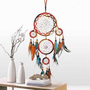 Colorful Dream Catcher Antique Imitation Enchanted Forest Dreamcatcher Gift Handmade Dream Catcher Net With Feathers Wall Hanging Decoration