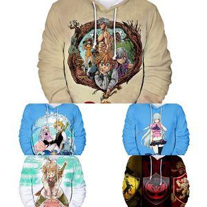 YZ3x3 Erwachsene Kinder Digitaldruck neue Nanatsu keine Taizai Männer Sünden digital Kinderkleidung digitalsweater Kleidung 3D Kapuzen Pullover für s