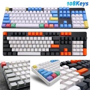 108 teile / satz PBT-Farbe Matching lichtdichte mechanische Tastatur Keycap Ersatz Mice Keyboards Zubehör Keyboards Keycap1