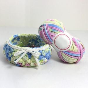 10 Roll Set New Super Soft Thick Chunky T Shirt Yarn For Knitting Blanket Carpet Handbag Crochet Cloth Yarn Color Number 1111
