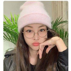 VRIGINER Rosa Nuovo Autunno Inverno cappello unisex morbida pelliccia Berretti New Woman caldo versione coreana maglia Bonnet commerci all'ingrosso Cappelli