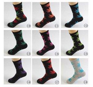 38 Renkler Noel PlantLife Çorap Erkekler Kadınlar Için Yüksek Kalite Pamuk Çorap Kaykay Hiphop Akçaağaç Yaprak Spor Çorap Toptan FY7301