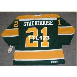 888 # 21 RON Stackhouse California Golden Seals 1970 CCM Vintage Hockey Jersey или пользовательское имя или номер ретро Джерси