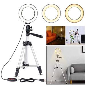 5.7in SMD LED Light Ring Kit con el soporte regulable 5500K para la cámara del teléfono maquillaje