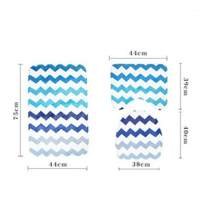 Bath Mat 3 Piece Set Classical Pattern Toilet Cover Foot Pad Non-slip Absorbent Bathroom Door Mat Flannel Soft Bathr Rug Carpet1
