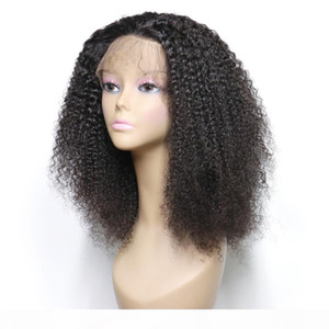 Curly Lace Front Human Hair Wigs For Black Women Pre Plucked With 360 Full Frontal Baby Hair Remy Brazilian Hair Short Bob Wig