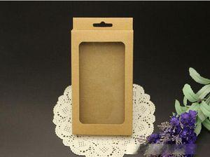Kein Drucken Blank Kleinpaket-Beutel Handy-Hüllen Individuell gestaltete Kraftpapier Verpackung Verpackungs-Kasten für iPhone 4 5 6 Galaxy S3 S4 Anmerkung 2 3