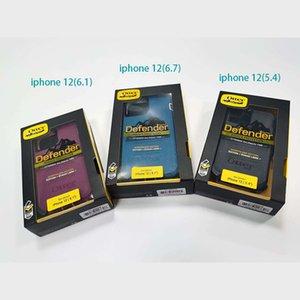 DHL New Defneder Symmetrie für iphone 12 Mini-iPhone 12 / 12Pro iphone 12pro max Stahlrüstung TPU PC Abdeckungen Fälle mit Gürtelclip