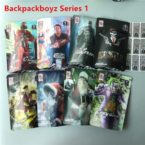 Chegada nova Santaback Backpack Boyz Flores Bolsas 3.5 Gramas Louco Down Hustle Mylar Bag Backpack Boyz Child Proof SacleAlador