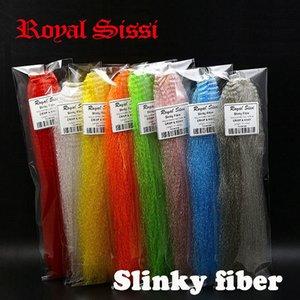 Royal Sissi 8Colors Assorted Fibre Slinky Fibre Synthétique Kinky Cheveux Kinky / Slinky Fibre Niing Matériaux à la mouche pour clouser Minnow Poissons 201031