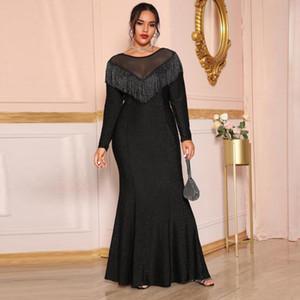 Robe Femme Hiver 2021 MUSULMAN DE MODE VESTIDOS ABAYA KAFTAN DUBAI TURQUIE Robe Musulman Robe Islam Vêtements Robes Abayas pour femmes