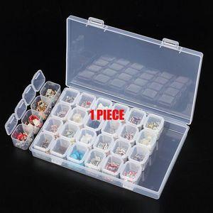 28/8 slot diamante ricamo accessori Pittura scatole Caso Punto Croce strumento di plastica Storage Box Nail Strass attesa YI GT