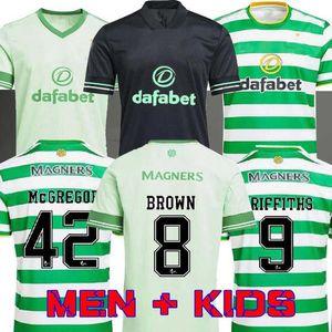 20 21 21 Celtic Soccer Jerseys McGregor Griffiths 2020 2021 Duffy Forrest Brown Christie Edouard Bayo Home Men Bambini Camicie da calcio