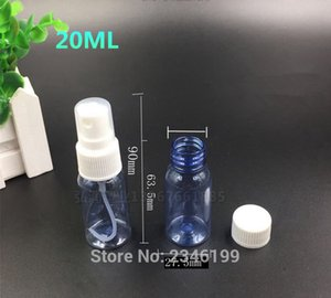 20ML 20g 100pcs Lot, Blue Clear Plastic Spray Bottle,Perfume Make Up Water Container, Empty Packing Bottle,PET Sprayer