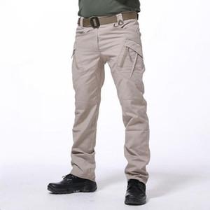 Su geçirmez Taktik Pantolon Erkekler Pantolon Çok Cepler Eğitim Savaş Ordu Çalışma Üniformaları Erkek Streetwear Kargo Pantolon