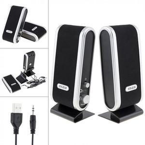 Haute Qualité Hy-218 Haut-parleurs Mini stéréo USB Bookshelf Notebook Téléphone Haut-parleurs peut faire du pouvoir petit son