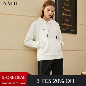 Amii Minimalism Winter Fashion Hoodies für verursachendes Stickerei mit Kapuze Vlies-Sweatshirt Frauen Pullover Tops 12030258