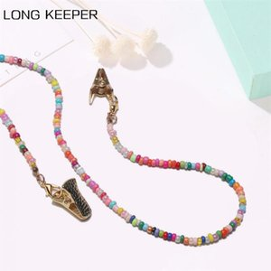 LongKeeper 2020 New Colorful Beads Glasses Chains Fashion Women Sunglasses Strap Cord Necklace Mask Lanyard Eyewear Accessories