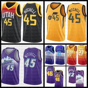 2021 New Basketball Jersey UtahJazzMens Donovan 45 Mitchell Mesh Retro Rudy 27 Gobert John 12 Stockton Jugend Karl 32 Malone