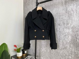 2020FW autumn fashion women black jacket coat female high quality luxury coat outerwear