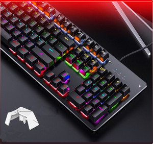 hot Real mechanical keyboard, interchangeable axis gaming green axis wired USB keyboard office home free shipping