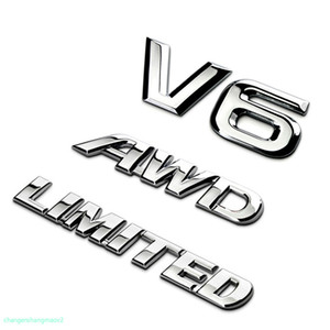 Auto Accessories For Toyota Highlander 3D Metal Chrome Car Rear Trunk Emblem V6 Sticker Sport AWD Decal Limited Badge Upscale