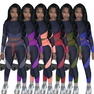 Fashion Women Tracksuit Matching Printed Long Sleeve Tops Shirts +Leggings Pants Two Piece Suit Clothing Casual Sport Outfits S-2XL F92906