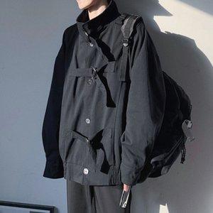 ZAZOMDE Otoño Invierno Masculino Casual Carga Chaqueta Moda Hombres Ropa Sólido Cortavientos Streetwear Outerwear