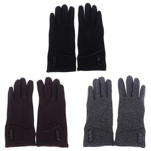 Пять пальцев перчатки перчатки 1PAIR зимние женщины сенсорный экран ветрозащитный лыжный велосипед утолщенные флис теплые спортивные наружные мужские