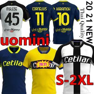 20 21 21 Футбол Футбол Cornelius Karamoh Maglia Parma Calcio Grassi Inglese Gervinho Kuco Uomini Футбольная рубашка Gransi Kurtic Jersey