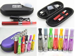 Starter Kit eGo CE4 ce5 E Cigarette Blister Kits 650mah 900mah 1100mah ego t Battery Atomizer Zipper Case 10ml needle bottle