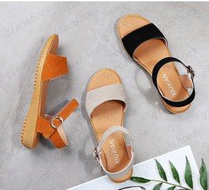 2021 Sandal High talon Sandale romaine Solle Tendon Tendon Sole Sole One Word Shoe Chaussure mère