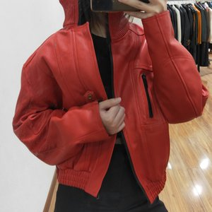Autumn and winter 2020 new top layer cow loose women Haining garment women's leather jacket