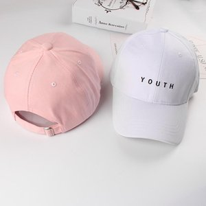 Fashion Summer Cotton Women Men's Baseball Caps Youth Letter Solid Adult Hats Black White Pink Unisex Snapback Casual Caps 20201