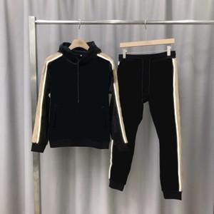 sportswear Tute 20FW Uomo Donna tute sportive con cappuccio + Pantaloni con i set di lettera stampata superiore unisex tuta con striscia riflettente M-3XL