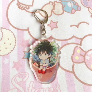 My Hero Academia Keychain Cute Double Sided 7 Styles Key Chain Pendant Acrylic Anime Accessories Cartoon Key Ring
