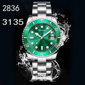 Top Mens ETA 2836 3135 Watch Luminous Diving Sports Ceramic 904L 116610LN Watch 40mm Ceramic Green Men Watch Free Shipping