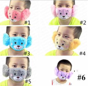 Зимний мультфильм лицевая маска для лица ушной защитник родитель-ребенок взрослые детские ушные маски детские мальчики девушки рот-муфельские наушники ветрозащитный уха теплый E92902