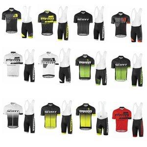 2020 New Jersey Hommes Scott Cyclisme Cyclisme Vêtements Set Maillot Ciclismo manches courtes Ktm Ropa Ciclismo Vtt vélo Shirt + Cuissard D100
